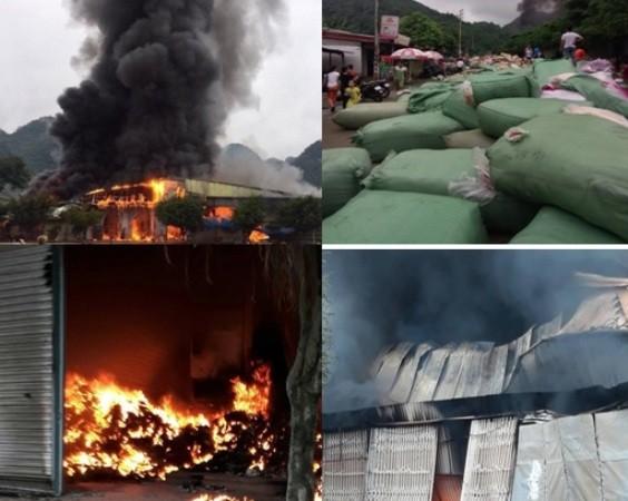 Vụ cháy gây thiệt hại nhiều tỷ đồng