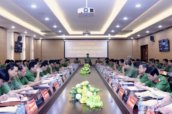 Hội nghị trực tuyến đến các địa điểm thuộc CATP Hà Nội