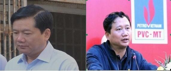 Các ông Đinh La Thăng và Trịnh Xuân Thanh - 2 bị can chính trong các vụ án từng xảy ra tại Tập đoàn Dầu khí Việt Nam