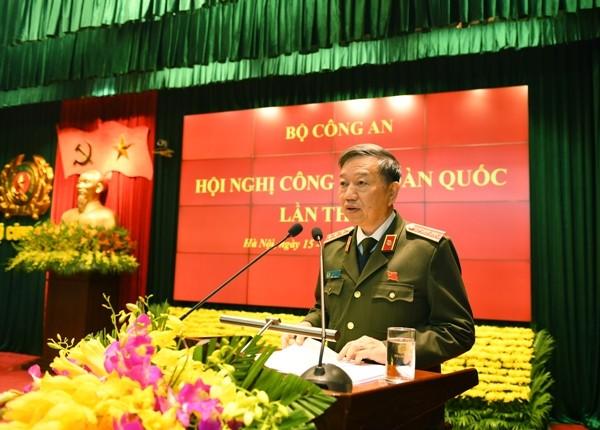 Bộ trưởng Tô Lâm phát biểu bế mạc Hội nghị Công an toàn quốc lần thứ 73