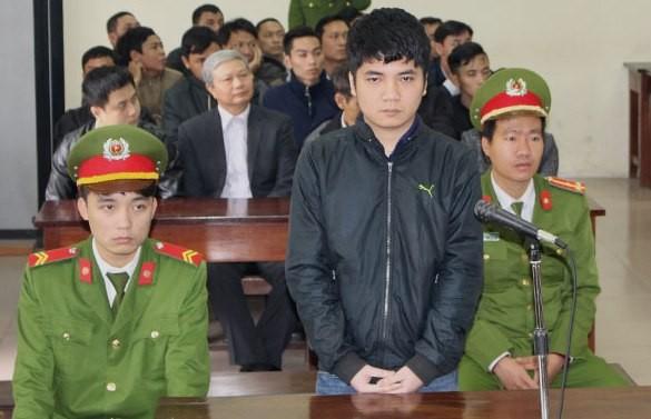 Bị cáo Nguyễn Quang Đức tại phiên xét xử sơ thẩm