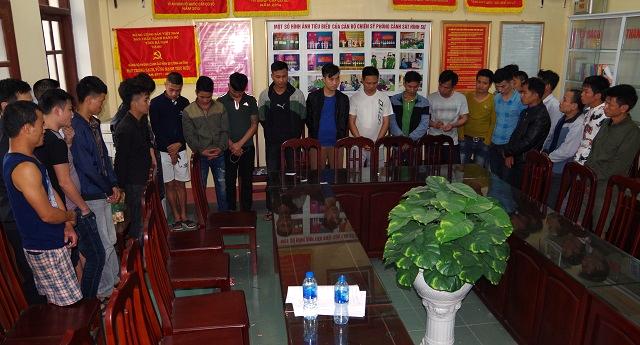 Các đối tượng có hành vi đánh bạc và tổ chức đánh bạc có mặt tại nhà đối tượng Kiên