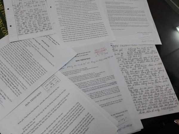 Đơn thư tố cáo, kêu cứu của người dân ở nhiều địa phương gửi đến Công an Hà Nội