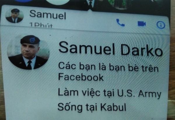 Đối tượng đã sử dụng facebook này để lừa chiếm hơn 1,9 tỷ đồng của chị Minh