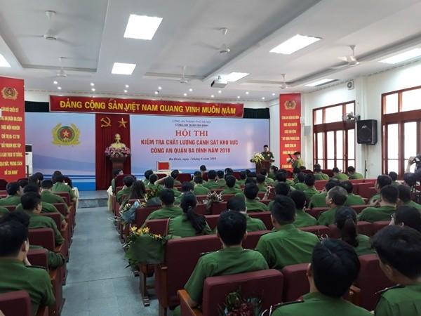 Hội thi mang nhiều ý nghĩa thiết thực đối với lực lượng CSKV CAQ Ba Đình