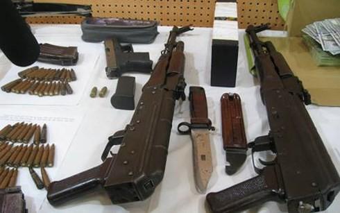 Số vũ khí trong vụ án đã bị cơ quan Công an thu giữ
