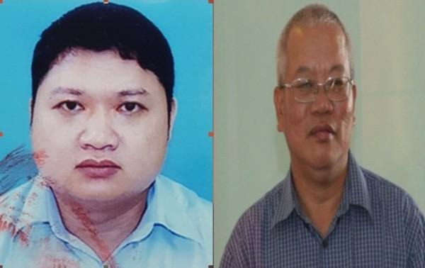 Hai đối tượng chính trong vụ án: Vũ Đình Duy và Trần Trung Chí Hiếu