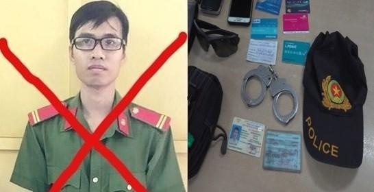 """Đối tượng Nguyễn Hùng Thái cùng """"phụ kiện"""" giả danh Công an của các đối tượng bị CATP HCM phát hiện, xử lý"""