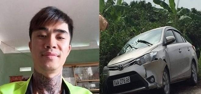 Vũ Viết Tuân và chiếc xe ô tô đối tượng lấy đi sau khi sát hại tài xế