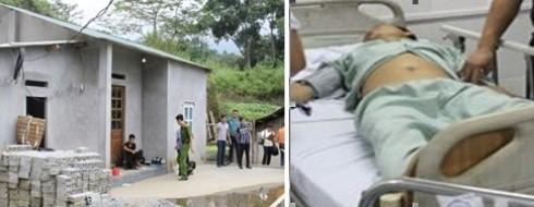 Ngôi nhà xảy ra vụ án mạng; và hung thủ Bạch Văn Sì đang được chữa trị, giám sát tại bệnh viện
