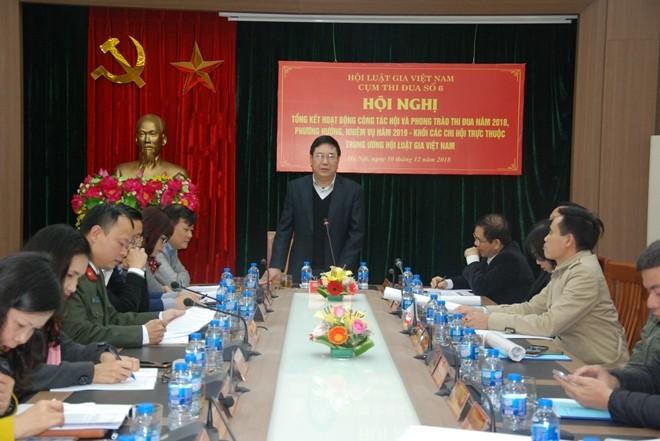 Trung tướng, GS.TS Nguyễn Ngọc Anh phát biểu tại hội nghị