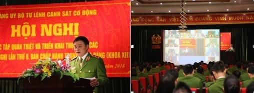 Trung tướng Phạm Quốc Cương phát biểu tại Hội nghị