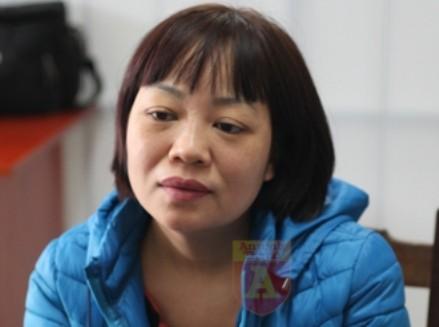 Đào Thị Thanh Bình tại CQĐT Công an tỉnh Bắc Giang