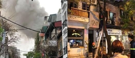 Lực lượng chức năng nhanh chóng có mặt xử lý vụ cháy