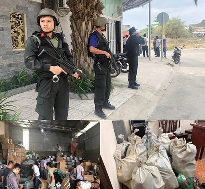 Lực lượng Công an phong tỏa, khám xét địa điểm cất giấu ma túy