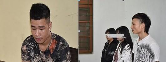 Các đối tượng bị phát hiện mang theo ma túy và vũ khí thô sơ