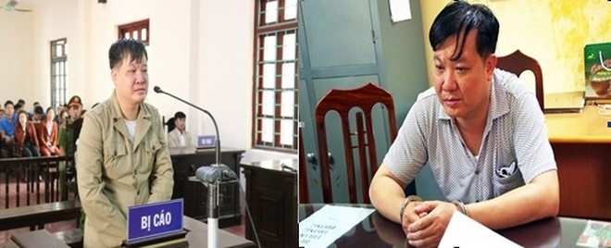 Lê Văn Thắng tại phiên tòa xét xử sơ thẩm; và thời điểm bị bắt theo quyết định truy nã