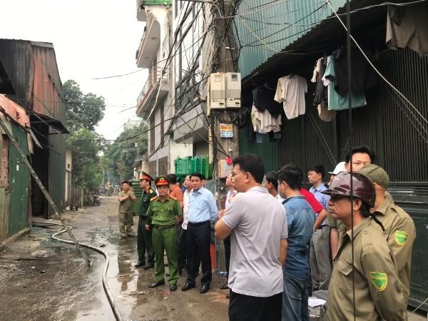 Chủ tịch UBND TP Hà Nội chỉ đạo phương án khắc phục hậu quả tại hiện trường