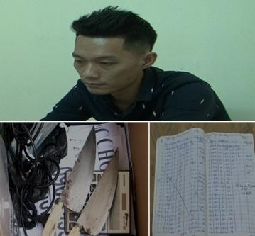 Đối tượng và tang vật vụ án cho vay nặng lãi bị Công an TP. Hạ Long xử lý