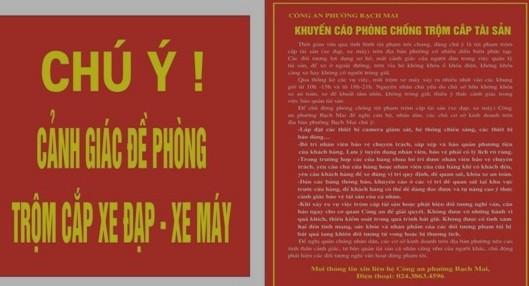 Biển báo khuyến cáo hết sức ý nghĩa của CAP Bạch Mai
