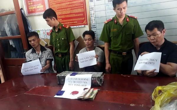 Các đối tượng, tang vật vụ án bị bắt giữ