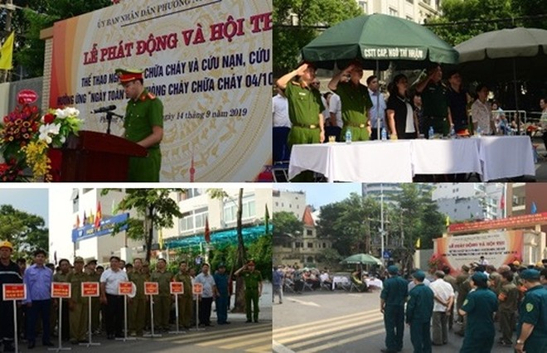 Hội thi thể thao PCCC của phường Ngô Thì Nhậm được tổ chức sôi nổi, thiết thực