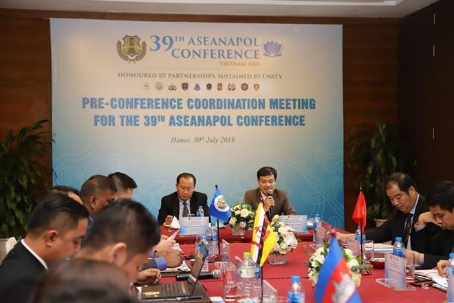Các đại biểu tham dự cuộc họp điều phối chuẩn bị tổ chức Hội nghị ASEANAPOL lần thứ 39