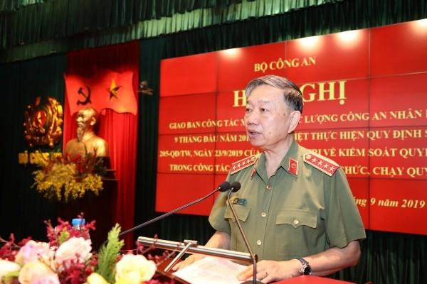Bộ trưởng Tô Lâm chủ trì và phát biểu chỉ đạo tại hội nghị