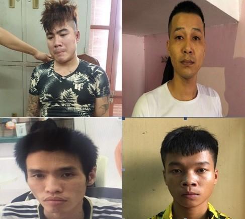 Một số đối tượng có hành vi cướp, cướp giật bị CAH Gia Lâm bắt giữ