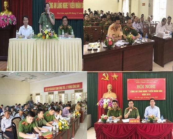 Hội nghị lắng nghe ý kiến nhân dân được CAH Gia Lâm tổ chức trang trọng, ấm cúng và thiết thực