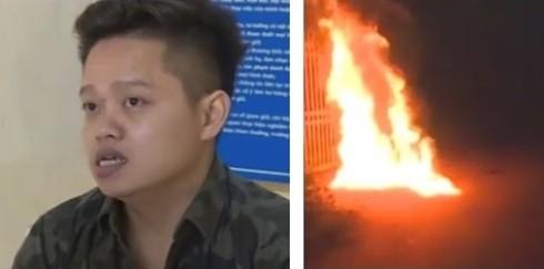 Đối tượng Văn đổ xăng, đốt trước cửa nhà bạn gái
