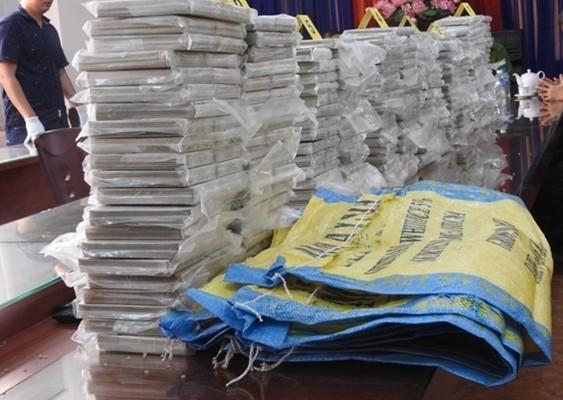 Gần 450 bánh heroin được thu giữ hồi đầu tháng 11 vừa qua