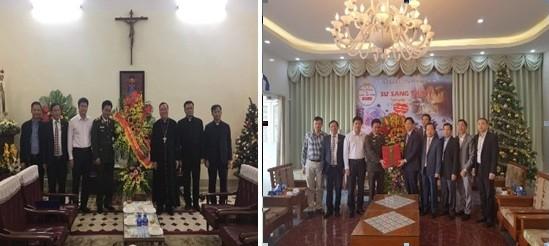 Thiếu tướng Nguyễn Anh Tuấn chúc mừng Tòa Tổng Giám mục Hà Nội và Hội thánh Tin lành Việt Nam (miền Bắc)