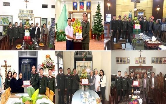 Các đoàn công tác Công an Hà Nội trao tặng tình cảm, tấm lòng đến một số tổ chức tôn giáo, nhân dịp Noel và chuẩn bị bước sang năm mới 2020