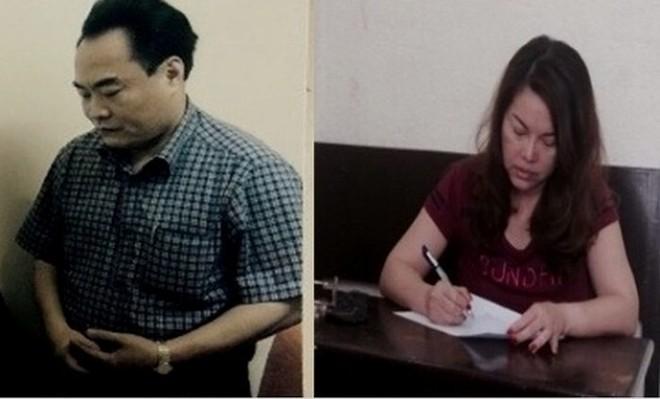 Hai bị can đầu vụ: Trần Đức Trung và Lê Thị Hằng