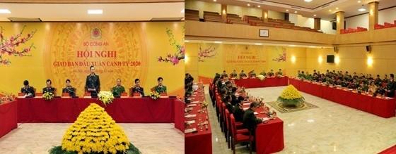 Bộ trưởng Tô Lâm chủ trì, phát biểu tại hội nghị trực tuyến sáng 30-1