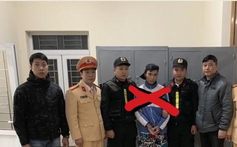 Đối tượng Tuấn (dấu X) bị bắt khi đang lẩn trốn tại địa bàn tỉnh Sơn La
