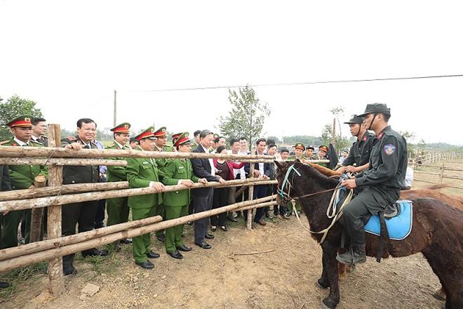 Bộ trưởng Tô Lâm cùng đoàn công tác đánh giá cao công tác huấn luyện ngựa