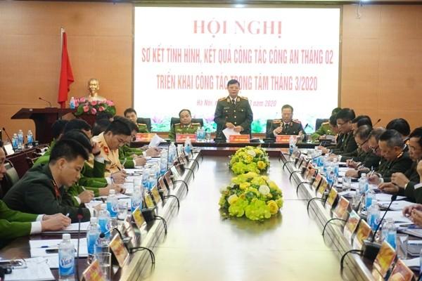 Thiếu tướng Đào Thanh Hải - Phó Bí thư Đảng ủy, Phó Giám đốc CATP chủ trì, phát biểu chỉ đạo hội nghị