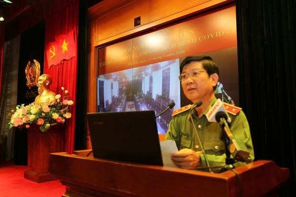 Trung tướng - Thứ trưởng Nguyễn Văn Sơn phát biểu chỉ đạo tại hội nghị