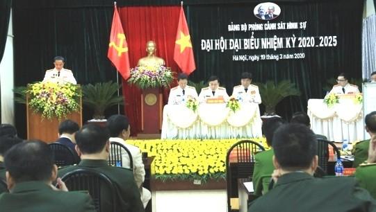 Phòng Cảnh sát hình sự CATP Hà Nội tổ chức Đại hội đại biểu nhiệm kỳ 2020 - 2025