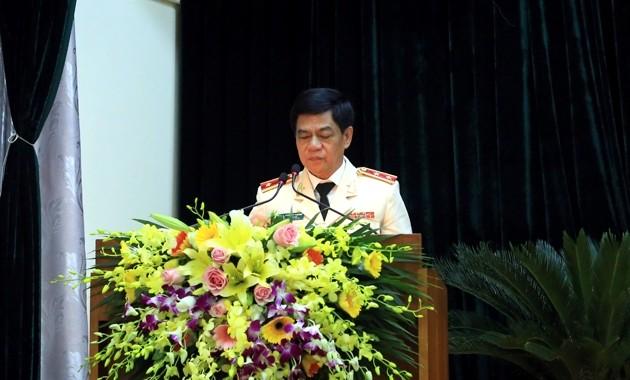 Trung tướng Đoàn Duy Khương phát biểu chỉ đạo Đại hội