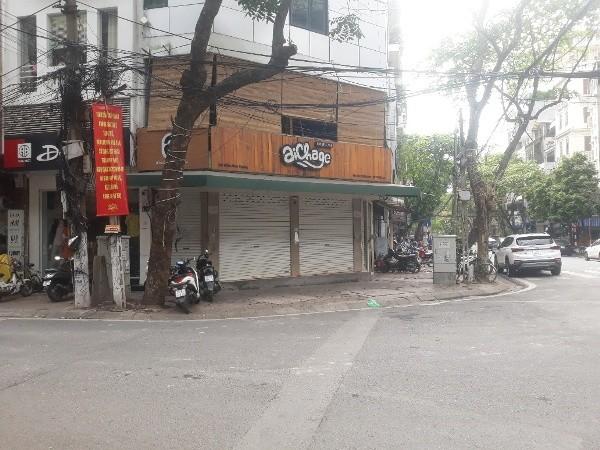 Quán cà phê ở ngã tư Tuệ Tĩnh - Triệu Việt Vương đã đóng cửa