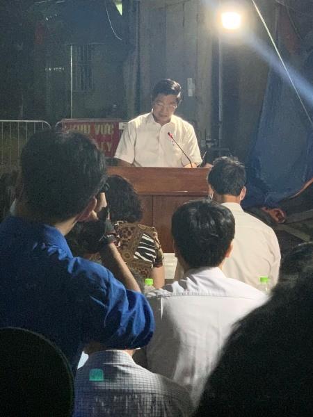 Chủ tịch UBND huyện Thường Tín, ông Kiều Xuân Huy phát biểu, giao nhiệm vụ trọng tâm thời gian tới cho xã Dũng Tiến và các ngành, đoàn thể