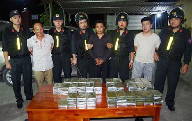 Một số đối tượng trong vụ án thời điểm bị bắt giữ