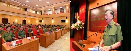 Bộ trưởng Tô Lâm chủ trì, phát biểu tại hội nghị