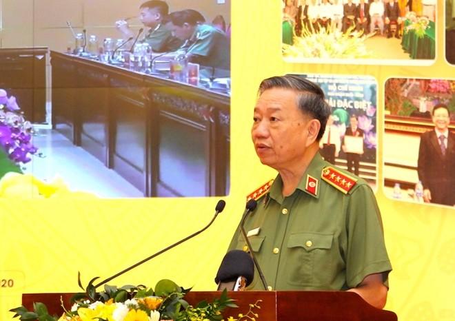 Bộ trưởng Tô Lâm phát biểu kết luận hội thảo