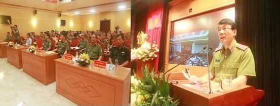 Trung tướng Lương Tam Quang chủ trì, phát biểu tại hội nghị