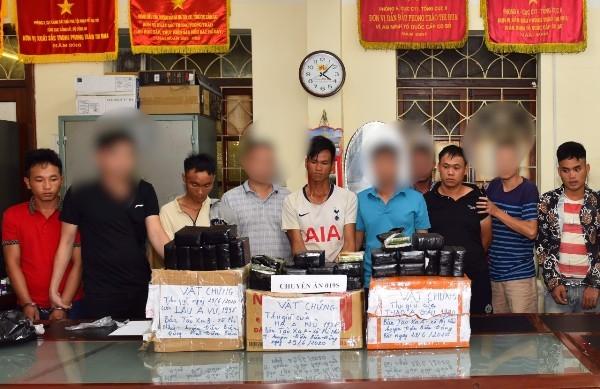 Một số đối tượng nằm trong chuyên án bị bắt giữ