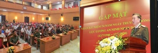 Đại tướng - Bộ trưởng Tô Lâm phát biểu tại buổi gặp mặt